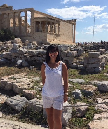 Marlton Dentist Dr. Jennifer Kazemi in Greece